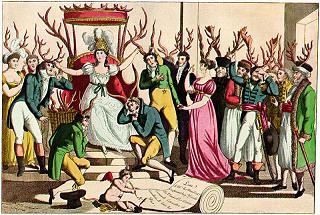 La festa dell'Ordine dei Cuculi davanti al trono di Sua Maestà, Infedeltà, 1815 -