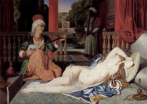 Odalisca con schiava di Jean Auguste Dominique Ingres, dipinto nel 1842