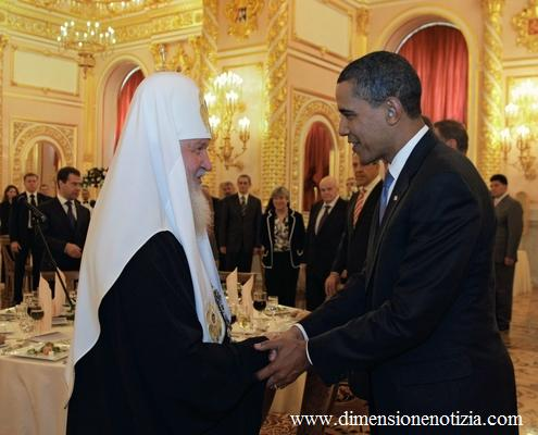 Presidente americano Obama saluta patriarca di Mosca