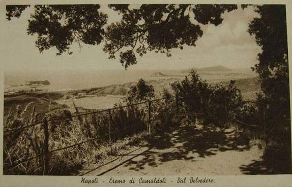 Napoli - Dal belvedere dell'eremo dei Camaldoli, 1870