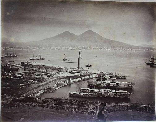 Napoli - Il vecchio porto, 1875