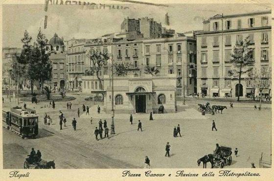 Napoli - Piazza Cavour e Metropolitana, 1925