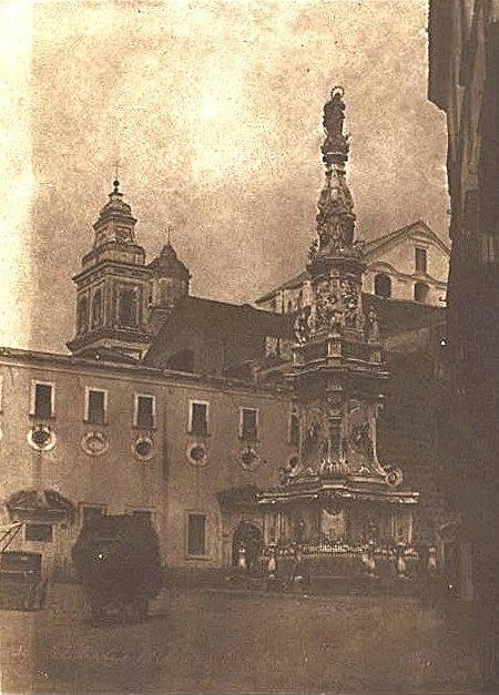 Napoli - Piazza del Gesù, 1846