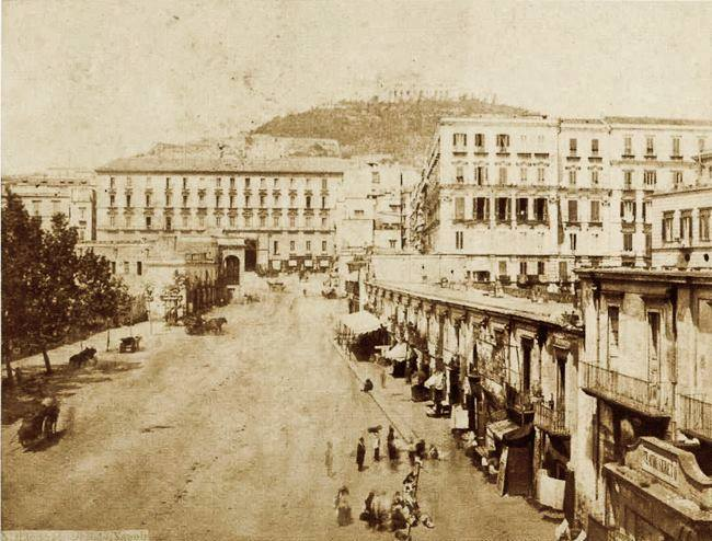 Napoli - Piazza Municipio, 1860