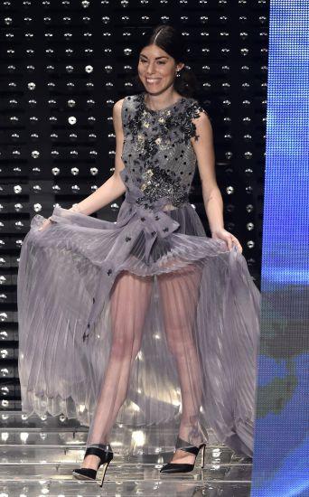 Sanremo: Le sexy trasparenze di Bianca Atzei