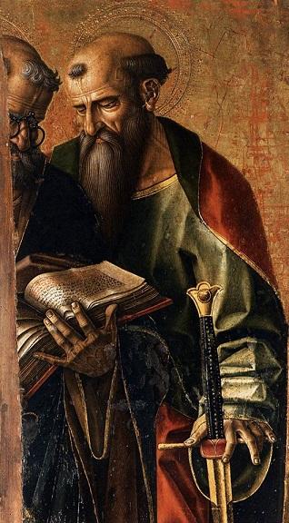 San Pietro e San Paolo (dettaglio) raffigurati da Carlo Crivelli (1490)