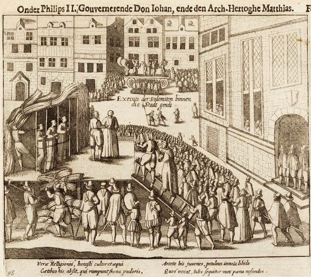 Esecuzione capitale di cinque sodomiti a Gand (Belgio) nel 1578