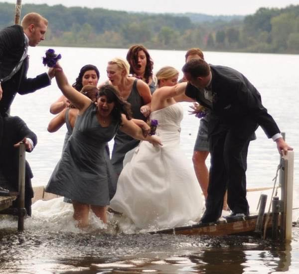 "Quando si dice ""matrimonio bagnato, matrimonio fortunato""!"