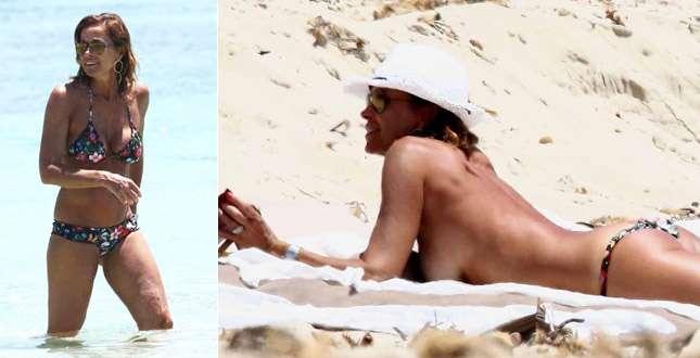 Cristina Parodi, vacanze scatenate con le amiche a Formentera e… topless da urlo