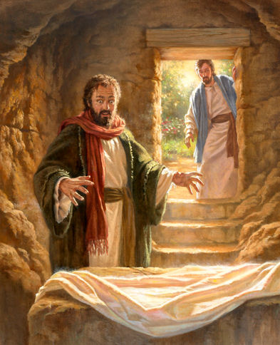 Grotta, Gesù risorto