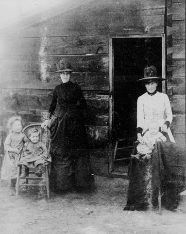 Mormoni davanti al loro locale - 1900 - Far West - Stati Uniti -