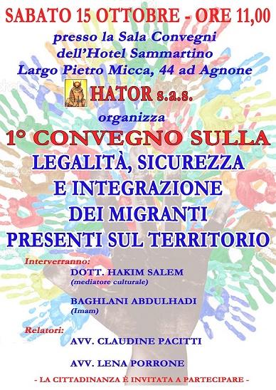 Convegno sulla Legalita' e Sicurezza  Sarà presente anche il Prefetto di Isernia Dr Fernando Guida