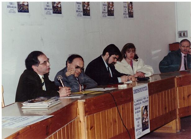Il direttore Gennaro, il presidente Michele, l'editore Giuseppe, la seg. Cinzia