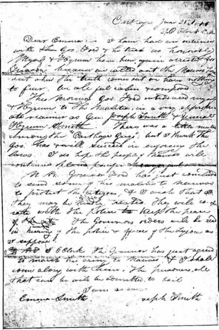L'ultima lettera che il profeta Joseph Smith - Stati Uniti -