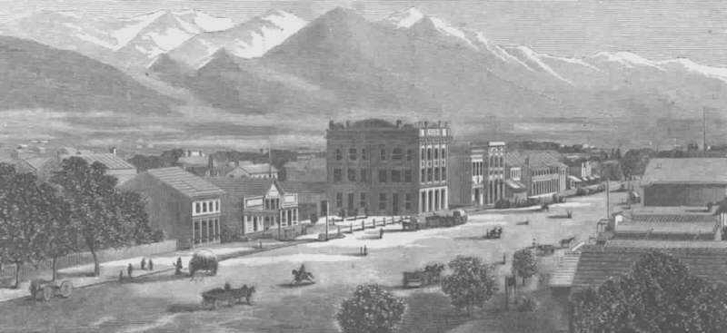 S.Lake City nel 1867 - Stati Uniti -