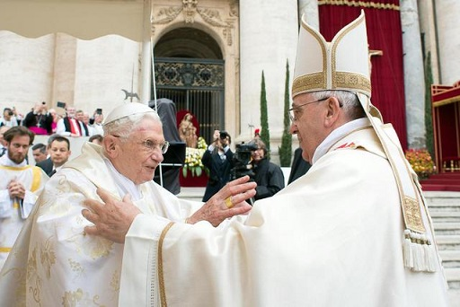 Due grandi Papi, Francesco e Benedetto XVI