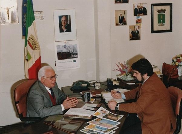 Antonio Iorio sindaco con il giornalista Giuseppe Piccolo - Napoli