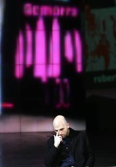 RICORDI 2009 - MARZO - Roberto Saviano in tv in un monologo anti camorra e' record di ascolti -