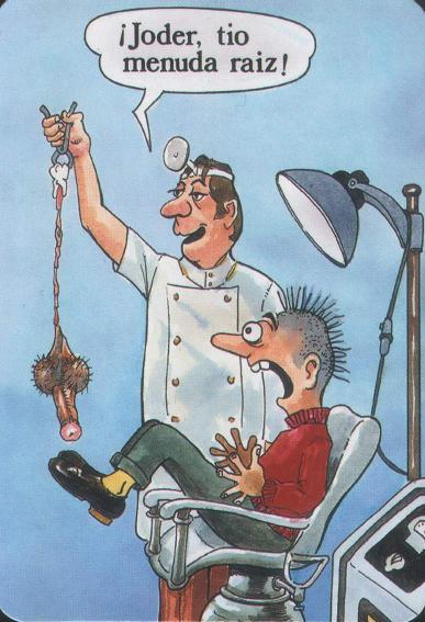 Dentista: Dopo aver messo del metallo nella tua bocca, tira fuori monete dalle tue tasche -