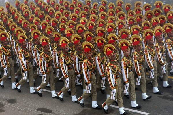 New Delhi, parate militare per festa della Repubblica Indiana
