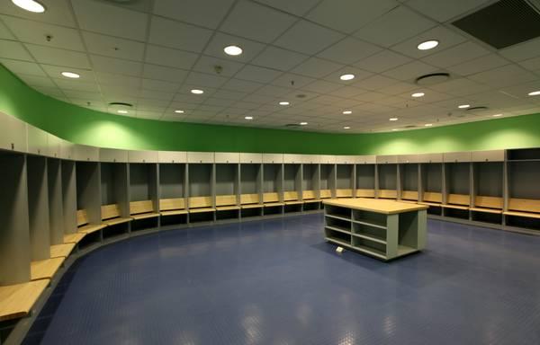 Mondiali: gli spogliatoi del 'Mbombela Stadium' a Nelspruit -