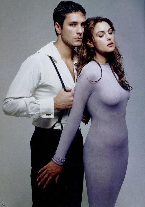 Monica Bellucci e Raul Bova