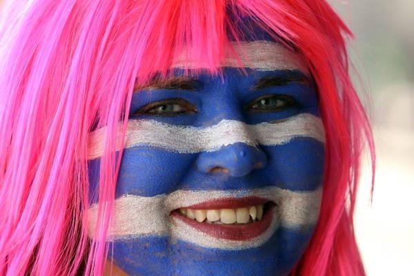 Mondiali, Grecia-Sud Corea, tifosa -