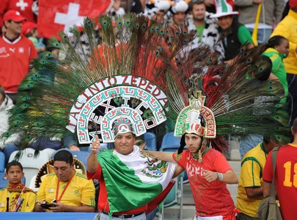 Tifosi della partita Spagna - Svizzera allo stadio Durban -