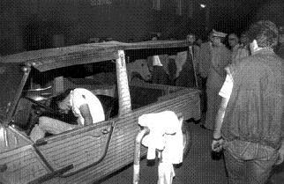 In questa foto del 23 settembre 1985 Giancarlo Siani ucciso dai camorristi -