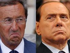 Gianfranco Fini e Silvio Berlusconi -