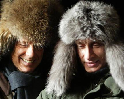 Silvio Berlusconi e Vladimir Putin -