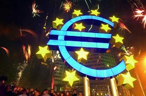 I festeggiamenti per l'entrata in vigore dell'Euro a Francoforte - 2002 -