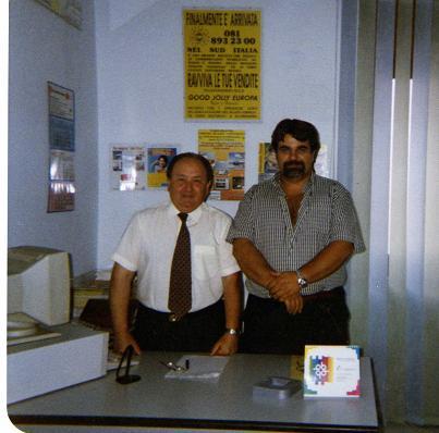 Stefano con l'editore Giuseppe Piccolo -