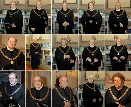 Il collegio dei membri della Corte costituzionale -