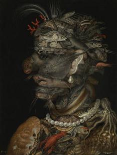 Una delle opere di Giuseppe Arcimboldi, detto Arcimboldo, in mostra al Palazzo Reale, Milano -