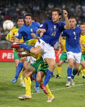 Italia-Lituania di qualificazioni europee il 3 novembre 2006 a Napoli -