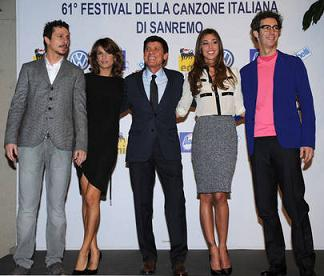 I protagonisti del festival di Sanremo -