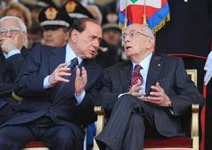 Giorgio Napolitano e Silvio Berlusconi -