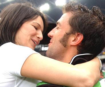 Alessandro Del Piero con la moglie Sonia Amoruso -