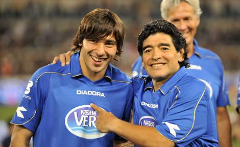Lavezzi e Maradona -
