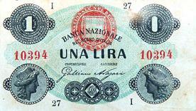 Banconota da 1 Lira della Banca Nazionale del Regno d'Italia -