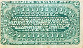 Banconota da 2 lire della Banca Nazionale nel Regno d'Italia (1868) -