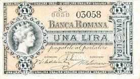 Banca Romana - 1 lira - 1872 -
