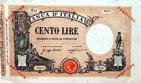 Banconota da 100 lire della Banca d'Italia - 1897 'vecchio tipo'