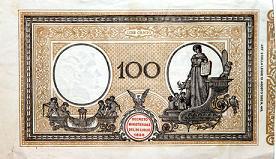 Banconota da 100 lire della Banca d'Italia - 1897 'vecchio tipo' -