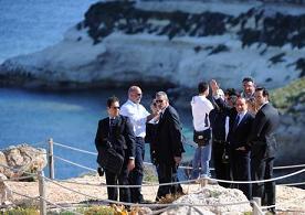Berlusconi a Lampedusa -