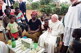 Wojtyla in Africa nel 1992 -