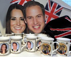 Colonia, in un negozio, di tutto e di piu' su Kate e William -