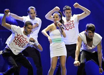 Emmy scatenata alla prima semifinale di Eurovisione song -