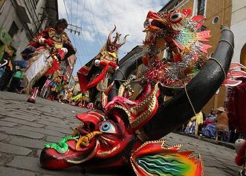 Danza con maschere boliviane -